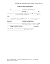 Verb Review (Mixed Including Passive) Worksheet