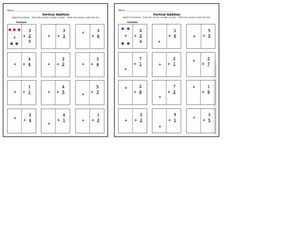 Vertical Addition 2 Worksheet