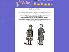 Victorian Outing- Examining Victorian Children's Clothing and Activities Worksheet