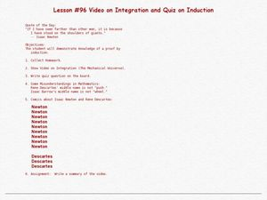 Video On Integration And Quiz On Induction Lesson Plan