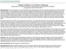 Village Children in Northern Pakistan Lesson Plan