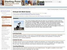 Virtual Oil Well Game Lesson Plan