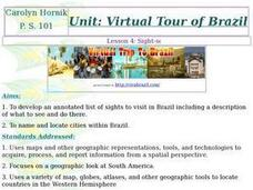 Virtual Trip of Brazil Lesson Plan