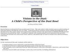 Visions in the Dust: A Child's Perspective of the Dust Bowl Lesson Plan