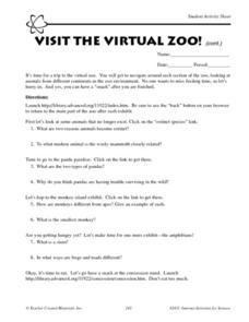 Visit the Virtual Zoo! Worksheet