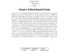 Vocab 1.2 Word Search Worksheet