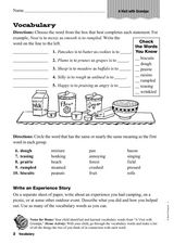 Vocabulary: A Visit with Grandpa Worksheet