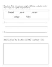Vocabulary Activity Worksheet