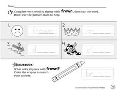 Vocabulary and Phonics Practice Pages Worksheet