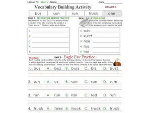 Vocabulary Building Activity 2 Worksheet
