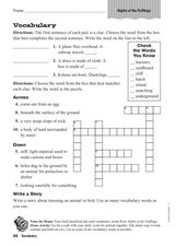 Vocabulary Crossword Worksheet