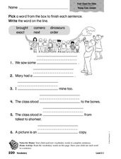 Vocabulary: Four Clues for Chee Worksheet