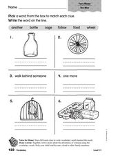 Vocabulary: Furry Mouse Worksheet