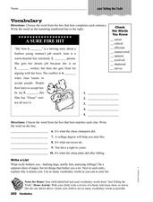 Vocabulary: Just Telling the Truth Worksheet