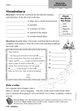 "Vocabulary: ""Marven of the Great North Woods"" Worksheet"