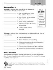 Vocabulary: Out of the Blue Worksheet