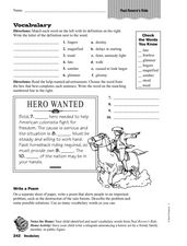Vocabulary: Paul Revere's Ride Worksheet