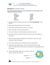 Vocabulary Practice: Cross Out the Incorrect Word Worksheet