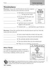 Worksheets Ramona Quimby Age 8 Worksheets vocabulary ramona quimbys extra good sunday 3rd 4th grade worksheet