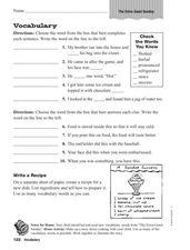 Worksheets Ramona Quimby Age 8 Worksheets vocabulary ramona quimbys extra good sunday 3rd 4th grade worksheet