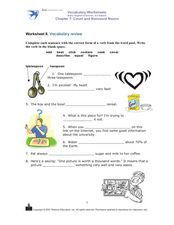Vocabulary Review: Verbs Worksheet