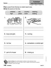 Vocabulary: The Storykeeper Worksheet