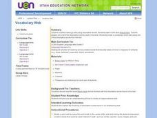 Vocabulary Web Lesson Plan