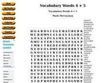 Vocabulary Words 4 + 5 Worksheet