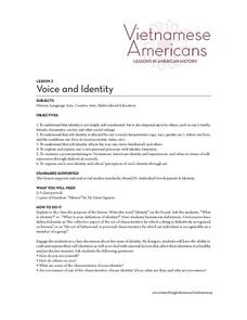 Voice and Identity Lesson Plan