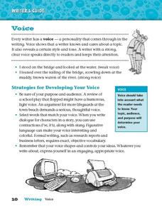 Voice Worksheet