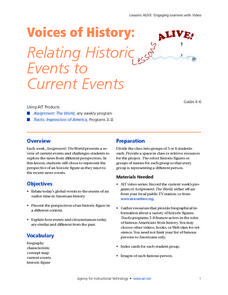 Voices of History: Relating Historic Events to Current Events Lesson Plan