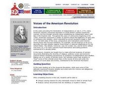 Voices of the American Revolution - Primary Documents Lesson Plan