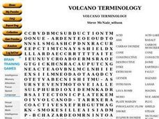 Volcano Terminology Worksheet