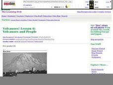 Volcanoes and People Lesson Plan
