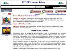 Volleyball Bonkers Lesson Plan