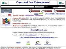 Volleyball Set Assessment Lesson Plan