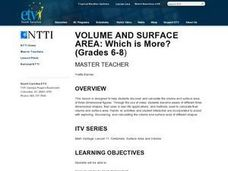 Volume and Surface Area:  Which Is More? Lesson Plan