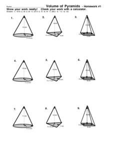 Printables Volume Of Pyramid Worksheet volume of pyramids 7th 9th grade worksheet lesson planet worksheet