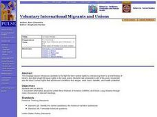 Voluntary International Migrants and Unions Lesson Plan