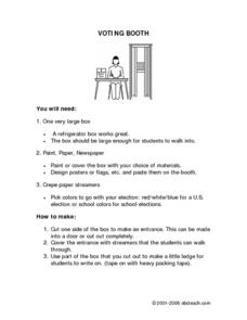 Voting Booth Worksheet