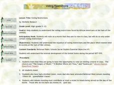 Voting Restrictions Lesson Plan