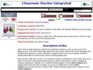 Vowel Catcher Lesson Plan