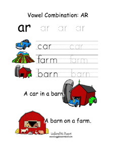 Vowel Combination: ar Worksheet