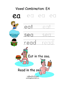 "Vowel Combination: ""ea"" Worksheet"