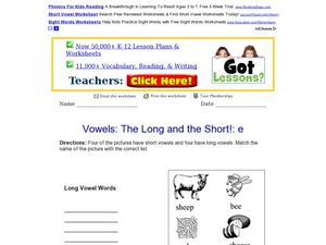 Vowels: The Long and Short! E Worksheet