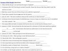 Voyage of the Beagle Worksheet