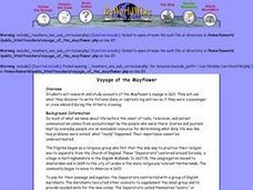 Voyage of the Mayflower Lesson Plan