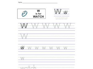 W is for Watch Worksheet
