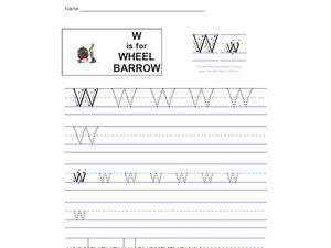 W Is For Wheelbarrow Worksheet