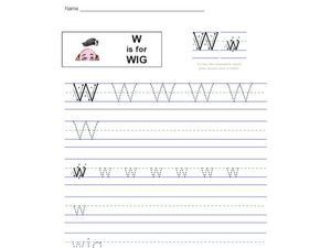 W is for Wig Worksheet